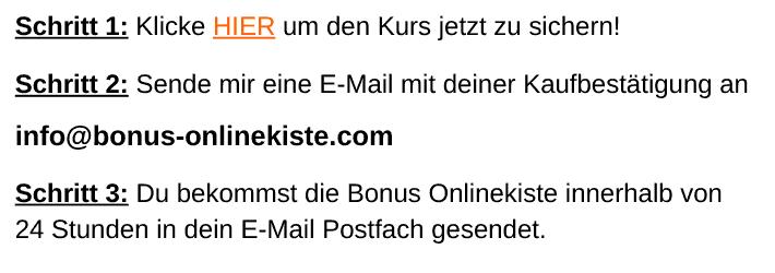 Deine Bonus Onlinekiste